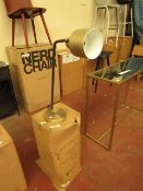 | 1X | COX & COX LEWES BLACK & BRASS WITH WHITE MARBLE DESK LAMP | RRP £95 | LOOKS UN-USED NO
