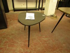 | 1X | CULINARY CONCEPTS MEXICANNA SMALL BURNISHED BRASS TEXTURED SIDE TABLE 38 X 38 X 50 | LOOKS