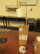 | 1X | COX & COX HUDSON WHITE & BRASS WITH WHITE MARBLE BASE FLOOR LAMP | RRP £150 | LOOKS UN-USED