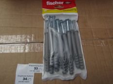 5x Fischer - Throughbolt 10 x 96 (Packs of 5) - New & Packaged.