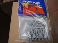 8x Rawl Plug - PlasterBoard Fixing (Free 7mm Drill Bit) (Packs of 50) - New & Packaged.