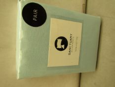 Pair of Sanctuary Duck Egg Pillowcases. New & Packaged