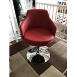 Furniture in Fashion Backeteer Bordeaux pedestal chair, brand new and boxed.
