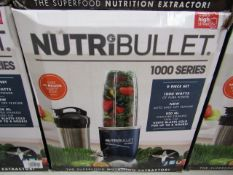 | 3X | NUTRI BULLET 1000 SERIES | UNCHECKED AND BOXED | NO ONLINE RESALE | SKU C5060191464734 |