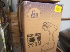 | 4X | VERTI STEAM PRO'S | UNCHECKED AND BOXED | NO ONLINE RESALE | RRP £43.99 |TOTAL LOT RRP £131.