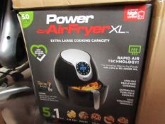 | 4X | POWER AIR FRYER XL 5LTR| UNCHECKED AND BOXED SOME MAY BE IN NON PICTURE BROWN BOXES| NO