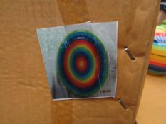 8x Rainbow - Large Plates (26cm) - New & Packaged.
