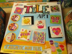 Grafix Decorate & Paint Your Own Tile Art Set. Unused & Boxed