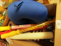 Box 10 Various Items Being Bubble Wands, kids baseball Bat etc