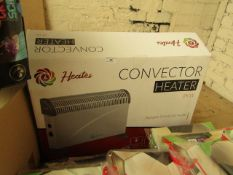 Heates 2kw Convector Heater. Untested & Boxed