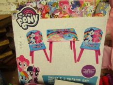 My Little Pony Wooden Table & 2 x Chairs. Boxed
