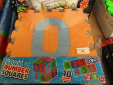 10 x Foam Numbers. Unused & Packaged