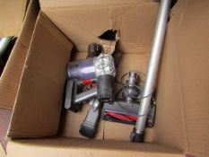 Dyson SV03 Cordless Vacuum Cleaner, main unit is tested working in used condition but the filter