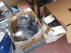 Kenwood multi-purpose food processor with various attachments, tested working but all accessories