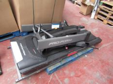 Pro-Form foldable Mach Z treadmill, unchecked as it is dismantled.