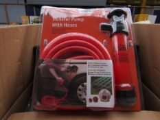 Stag Tools Transfer pump with hoses, unused, the packaging may be dirty.