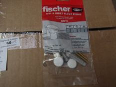 5x Fischer - W.C. & Biget Floor Fixing (Pack of 2) - New & Packaged.