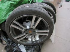 Recently Been Removed from Porsche Cayenne Turbo, the tyres are in various conditions ranging from