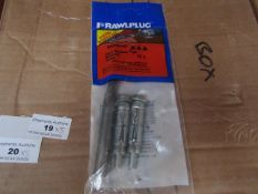 5x Rawl Plug - Loose Rawlbolt Brickwork Fixing (14mm) (Pack of 2 with Free 14mm Drill Bit) - New &