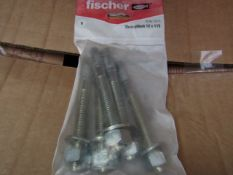 5x Fischer - ThroughBolt 12 x 115 (Packs of 5) - New & Packaged.