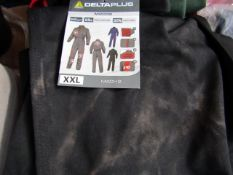 Delta Plus - Mach 2 Black BoilerSuit - Size XXL - Good Condition may Need A Wash.
