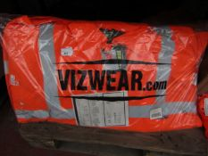 Hercules - Orange Hi-Viz work jacket - Size 4XL - New & Packaged.