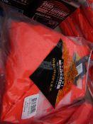 LYNGSOE - Rainwear Microflex - Bib 'n' Brace - Size Large - Hi-Viz Orange (WaterProof,