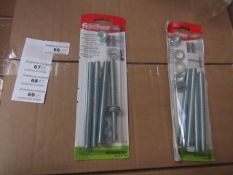 5x Fischer - FIS GS M 10 x 120 Threaded Bolts (Packs of 4) - New & Packaged.