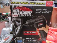   1X   AIR HAWK PRO CORDLESS TYRE INFLATOR   REFURBISHED AND BOXED   NO ONLINE RE-SALE   SKU