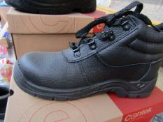Centek - Black Steel Toe Cap Boot - Size 8 - New & Boxed.