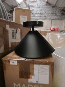| 1X | MADER.COM ARNE FLUSH CEILING LIGHT IN BLACK AND GOLD FOIL | LOOKS NEW NO GUARANTEE | RRP £