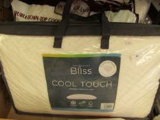 Snuggledown Bliss Cool Touch Memory Foam Pillow. Comes in a carry bag