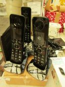 Set of 3 BT Cordless Phones. Item No 090632. No Batteries so unable to test