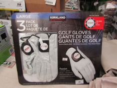 Pair of Kirkland Size large Golf Gloves with ball Marker. Unworn