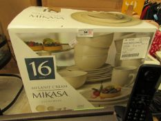 16 Piece Mikasa Melanie Dinnerware Set. Bowl is Damaged but others are fine