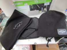 Callaway Weather Series Gift Set with Knitted Beanie, Mittens & Snood. All Unused but packaging is