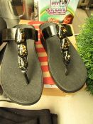 Fitflop Metalic Flex Stone Toe Thong Shoes. Size 4. Unworn & Boxed