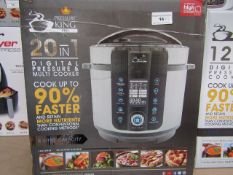 | 3X | PRESSURE KING PRO 20 IN 1 6LTR PRESSURE COOKER | UNCHECKED AND BOXED SOME MAY BE IN NON