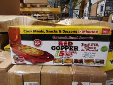 | 5X | RED COPPER CHEF ELECTRIC MEAL MAKERS | UNCHECKED AND BOXED | NO ONLINE RESALE | SKU
