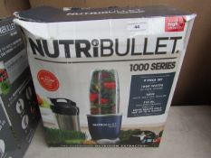 | 1X | NUTRI BULLET 1000 SERIES | UNCHECKED AND BOXED | NO ONLINE RESALE | SKU C5060191464734 |