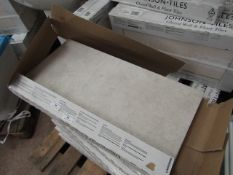 10x Packs of 5 Cambridge Classic White 300x600 wall and Floor Tiles By Johnsons, New, the RRP per