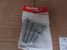 5x Fischer - Throughbolt 10 x 96 (Packs of 5) - New & Packaged.