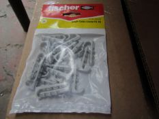 5x Fischer - Single Cable Clamp ES 10 - (Packs of 25) - New & Packaged.