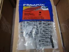 5x Rawl Plug - Lightweight Plasterboard Fixing with Drill Bit (Packs of 50) - New & Packaged.