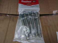 5x Fischer - ThroughBolt 12 x 115 (Packs of 5) - New & Packaged.