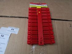 2x Fischer - Red Plastic Wall Plugs (Packs of 100) - New & Packaged.