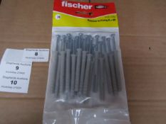 5x Fischer - Hammer- In Fixing 6 x 60 - (Packs of 20) - New & Packaged.