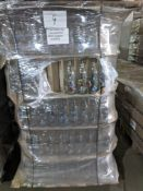 Full pallet containing appx 615 brand new 1 litre Smurf design liscensed glass bottles , new and