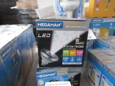 1x Megaman dimmable LED reflector, new and boxed. 30,000Hrs / E27 / 600 Lumens