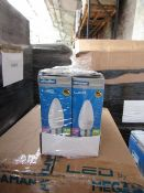 10x Megaman dimmable LED candle lamp, new and boxed. 25,000Hrs / E27 / 460 Lumens